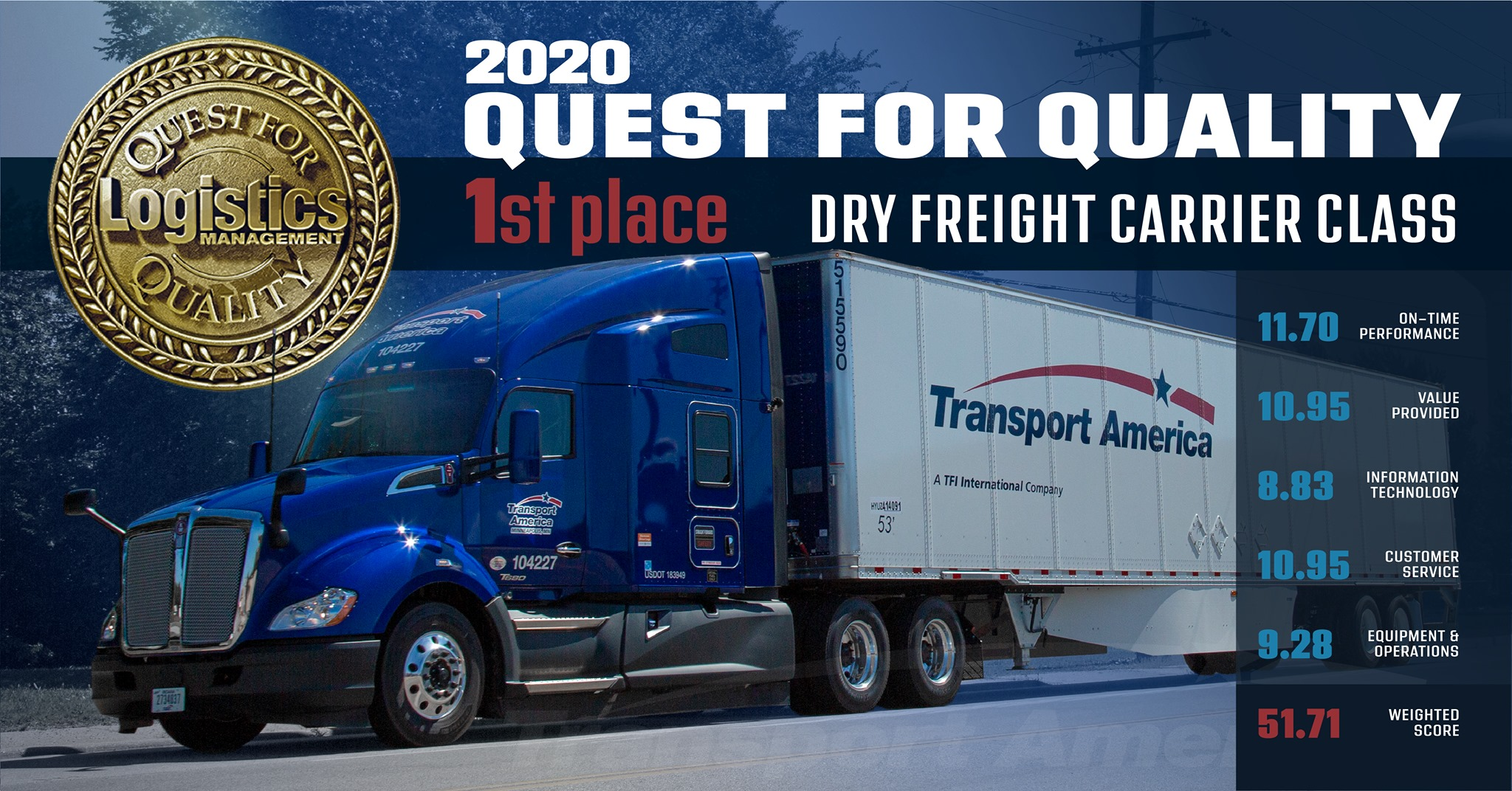 Transport America Quest For Quality Award Winner